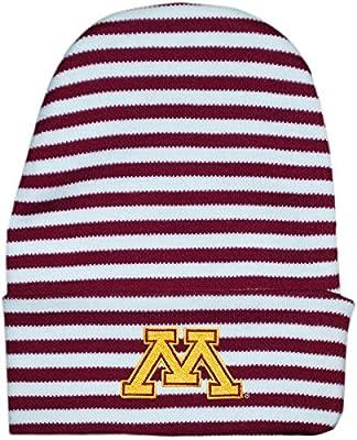 Creative Knitwear University of Minnesota Golden Gophers Striped Newborn Knit Cap