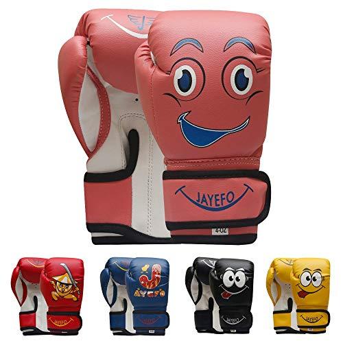 Jayefo Kids Boxing Gloves (Pink, 4 OZ)