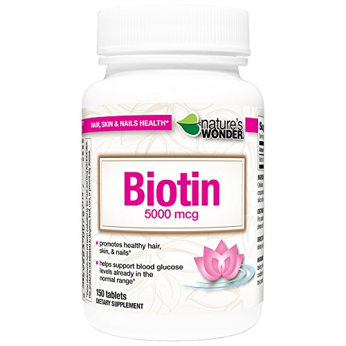 Nature's Wonder Biotin 5000mcg Tablets, 150 Count