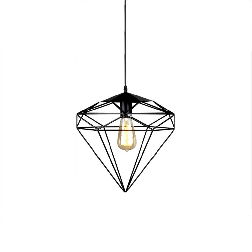 Nordic Industrial Style Wrought Iron Single Head Chandelier, Shop Lighting Chandelier Bar Table Lamp Retro Decorative Chandelier (D)