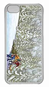 Customized iphone 5C PC Transparent Case - New Year Hike For The Tree Personalized Cover
