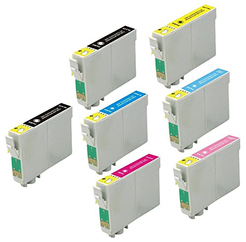 7 Pack Elite Supplies ® Remanufactured Inkjet Cartridge Replacement for #78 T078 T0781, Epson T078120 T078220 T078320 T078420 T078520 T078620 Works With Epson Artisan 50, Stylus Photo R260, Stylus Photo R280, Stylus Photo R380, Stylus Photo RX580, Stylus