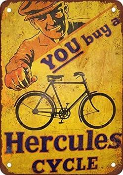 SIGNCHAT - Letrero de Metal con Texto en inglés Hércules ...