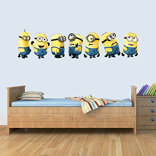 Customised Minions Childrens Wall Art Decal Vinyl Stickers Picture for Boys/Girls Bedroom
