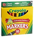 Crayola Broad Line Markers, Classic Colors 10 Each (Pack of 3)