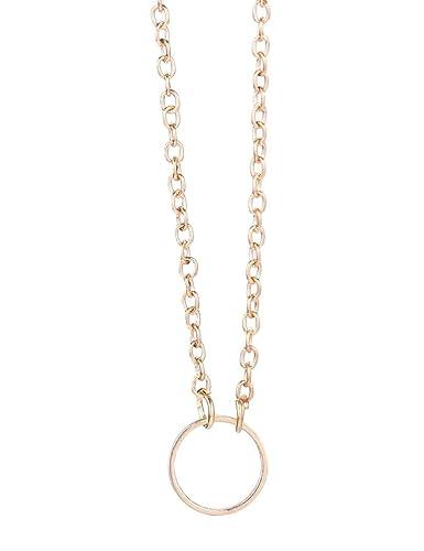 Amazon myedo women circle pendant necklaces chain necklace myedo women circle pendant necklaces chain necklace simple fashion jewelry gift aloadofball Images
