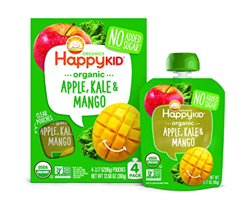 Twist Mango - Happy Squeeze Organic Superfoods Twist Apple Kale Mango, 3.17 Ounce Pouch (Pack of 16) (Pack May Vary) Baby Toddler Kid Snack, Resealable, No Added Sugar Non-GMO Kosher (Packaging May Vary)