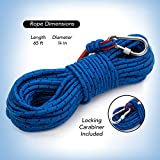 Loreso Strong Magnet Fishing Rope with Carabiner