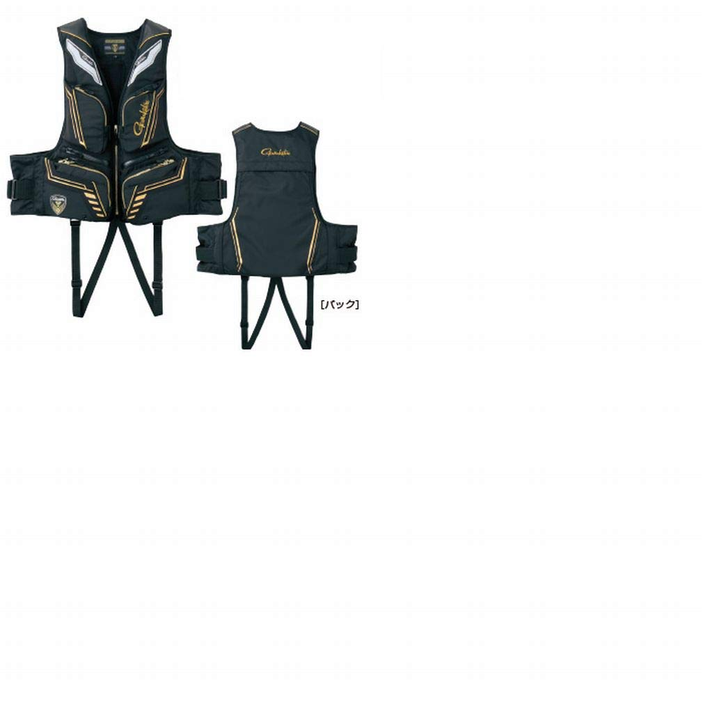 がまかつ(Gamakatsu) ウィンドストッパー フローティングベスト GM2186 LL ブラック/ゴールド B07NQ6YG7N