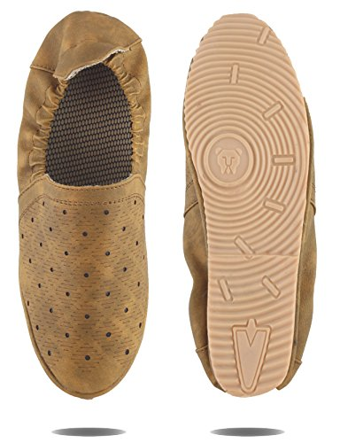 AORFEO Tan Driving Leather Loafer Shoes For Men Leather Loafer Shoe (8) Tan