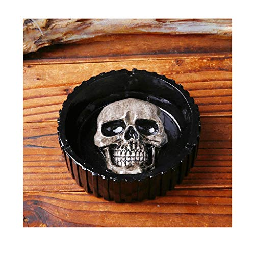 Yhg2019 Ashtray for Spooky Skeleton Halloween Decorations or Medieval Art Figurines & Gothic Home Decor As Scary Fantasy Gifts (Color : Black) ()