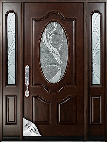 huge discount d23c2 7839d NATURAL MAHOGANY PREFINISHED SOLID WOOD PREHUNG FRONT DOOR ...