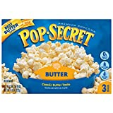 Pop Secret Popcorn, Butter, Microwave Bags 3 Count Box (Pack of 6)