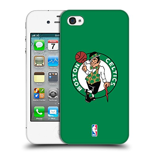 Official NBA Plain Boston Celtics Hard Back Case for Apple iPhone 4 / 4S