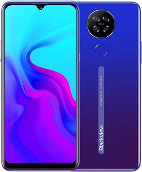 Blackview A80 Android 10 Teléfono Móvil 4G, Pantalla HD + 6.21 Pulgadas, Cuatro Cámaras Traseras, Quad Core 2GB + 16GB, Batería 4200mAh, 8.8 mm Diseño Elegante y Delgado, Dual SIM Smartphone Azul: Amazon.es: Electrónica