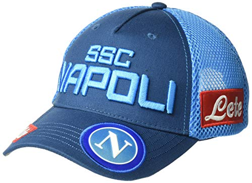 Ssc Napoli Italian Serie A Cap with Flat Peak, SkyBlue, 54