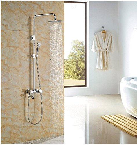 Gowe Newly Coming 8-in Chorme Polish Shower Set Bathroom Wall Mounted Single Handle Mixer Faucet 0