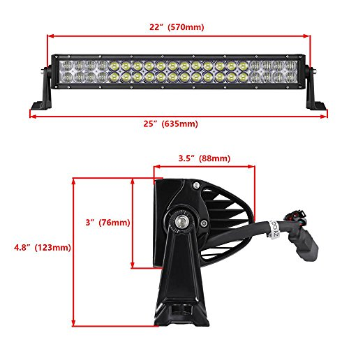 Auxbeam-V-Series-5D-LED-Light-Bar-CREE-LEDs-Combo-Beam-with-RGB-Strobe-Controlled-by-Bluetooth-APP