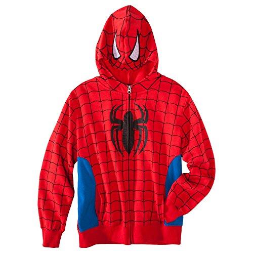 Marvel Boys Spider-Man Zip Up Hoodie Sweatshirt (Large 12/14)