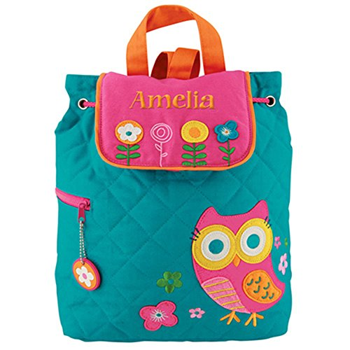 GiftsForYouNow Quilted Owl Personalized Backpack (Girls Quilted Backpack)