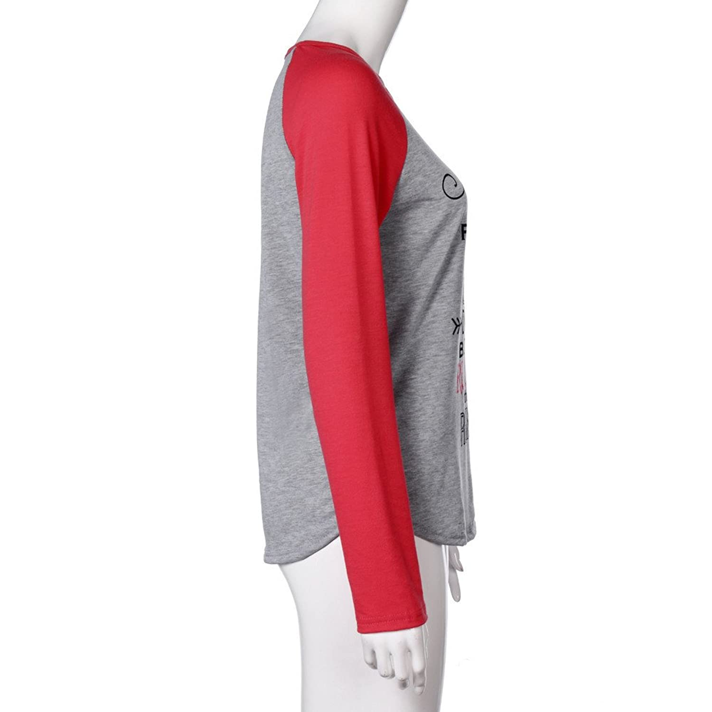 ... Señoras Invierno Sudadera Algodón Sudaderas Casual Suéter Elegante Deportes Blusa Streetwear O-neck Béisbol Camiseta Ropa: Amazon.es: Ropa y accesorios
