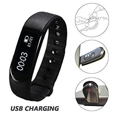 Fitness Tracker Watch, Toobur Heart Rate Monitor, Wireless Activity and Sleep Tracker, USB Charging Touch Screen Smart Bracelet, Sport Watch with Pedometer Compatible with iPhone iOS and Android Phone