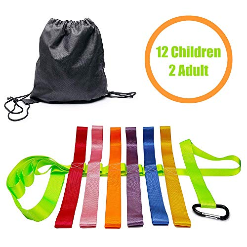 Safety Walking Rope with Colorful Handles for Daycare Teacher and Schools Designed (12 Children and 2 Adults) (Ring For Rope)