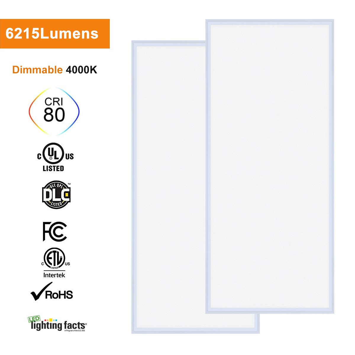 Allsmartlife Single Pole 0-10V LED Dimmer for 2x2// 2x4 LED Flat Panel Light UL Listed LED Dimmer Switch White 1-Pack Wall Plate Included