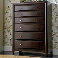 Coaster 200415 Phoenix Chest with Six Drawers Hardwood Solids and Wood Veneers in Deep Cappuccino