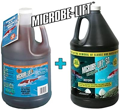 Microbe Lift PL 10PLG Gallons + Microbe-Lift Pond Sludge Away Gallon Pond Treatment Kit