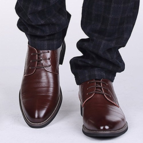 Uomo Vino Scarpe da in Pelle Stringate uomo Ricreazione Scarpe da da uomo Business appuntite Pelle YunYoud Eleganti Basse Scarpe casual classiche per Oxford Formal Pelle Scarpe qgnC4avw