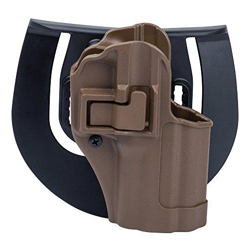 BLACKHAWK! 410507CT-R Serpa Springfield Xd Compact CQC Belt Loop & Paddle Holster, Black