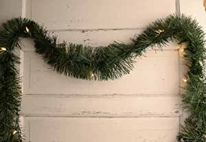 Artificial Pine Rope Christmas Holiday Garland with Electric Lights - 18 Feet Long
