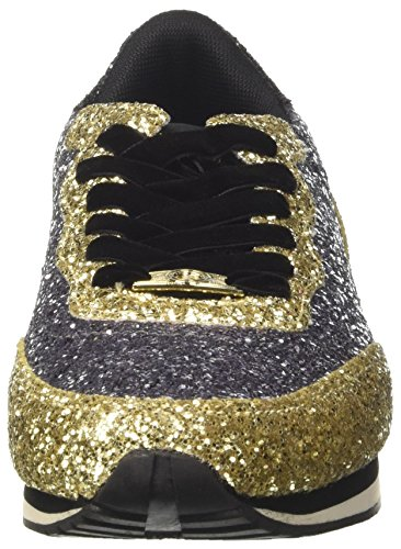 Guess Women's Sunny Low-Top Sneakers, Pew Gold Multicolour (Pewgo Pewgo)