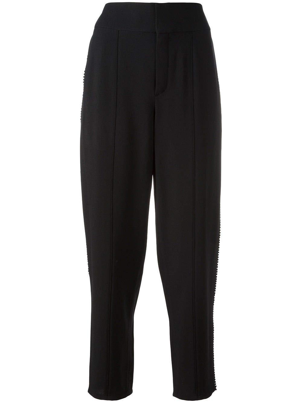 Brand Size 38 CHLOÉ Women's 17SPA5517S237001 Black Acetate Pants