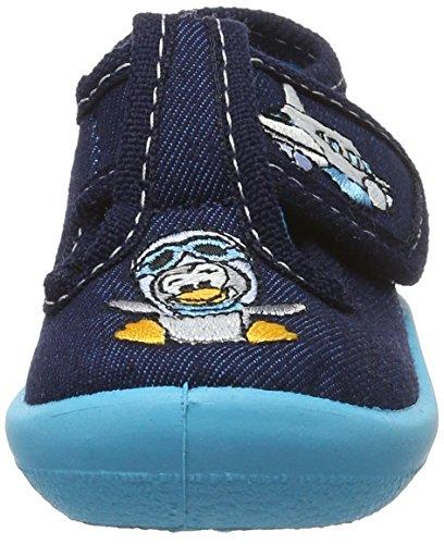 Fischer Mini - Zapatillas de casa Bebé-Niñas Blau (atlantik)