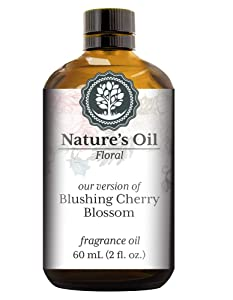 Blushing Cherry Blossom Fragrance Oil (60ml) For Diffusers, Soap Making, Candles, Lotion, Home Scents, Linen Spray, Bath Bombs, Slime