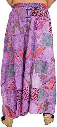 Exotic India Long Bougainvillea With Beige Skirt From Patch And Poposh Gujarat Printed Boho Work rrgqdxUw