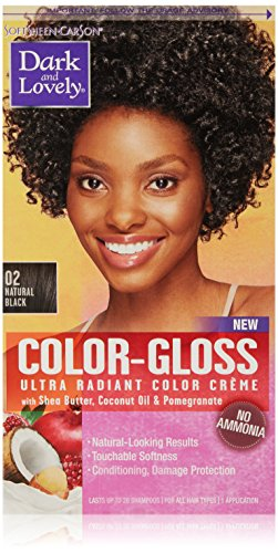 SoftSheen-Carson Dark and Lovely Color-Gloss Ultra Radiant Color Crème, Natural Black 02 -  9851761223