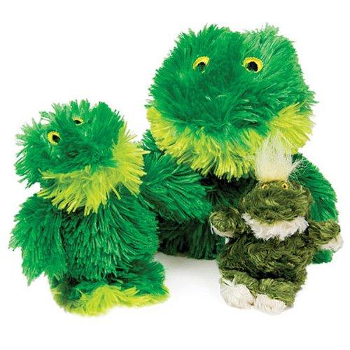 KONG Sitting Frog Dog Toy, Medium, Green, My Pet Supplies