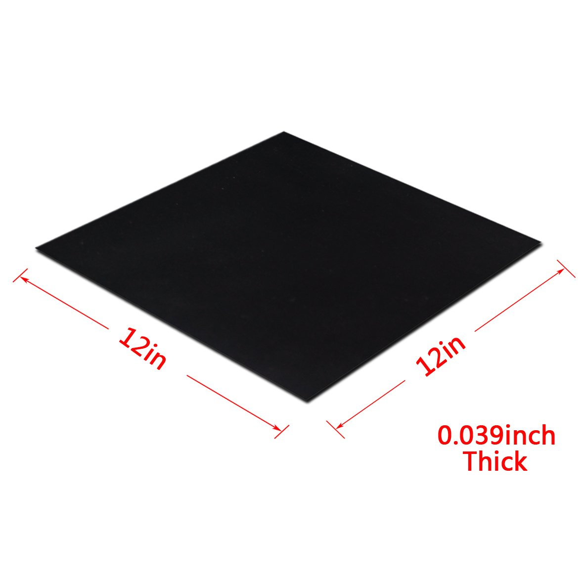 Flooring Leveling Protection Bumpers 0.157Inch Thick Rubber Sheet Black,12Inch Length X 12Inch Wide Supports Heavy Duty Abrasion Gaskets DIY Material Sealing