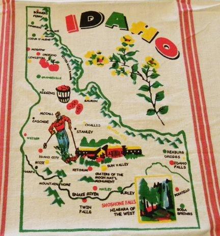 Idaho State Souvenir Dish Towel