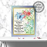 New Creation (Butterflies) | 2 Corinthians 5:17 | Christian Wall Art (8×10)