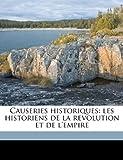 Causeries Historiques, Edmond Bire, 1149306106
