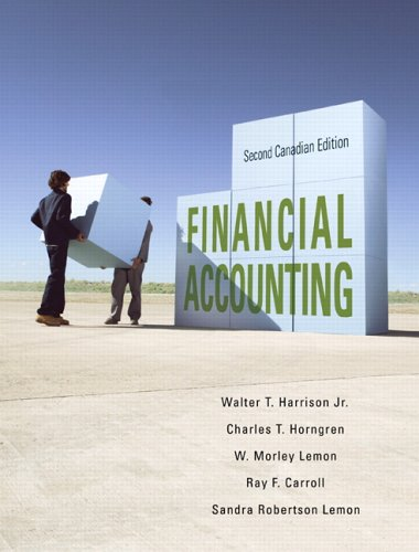 Financial Accounting, Second Canadian Edition