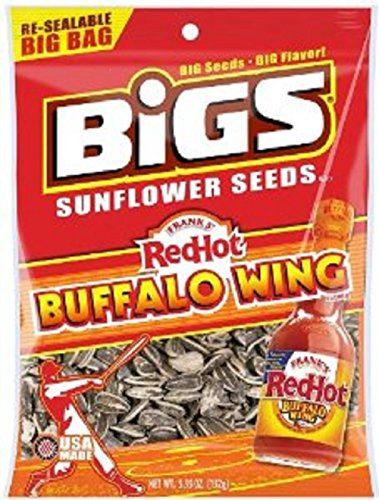Bigs Frank's Hot Buffalo Wing Sunflower Seed, 5.35-Ounce (Pack of 3) (Buffalo Wing Sauce Franks)
