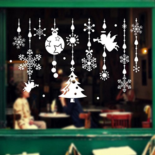 Christmas Wall Stickers, Boomboom Christmas Angel Christmas Windows Wall Stickers For Bedroom Livingroom]()