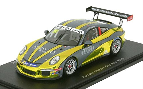 2015 Porsche Carrera Cup Asia #86 Model Car in 1:43 Scale by Spark (Best Of Asia Carrera)