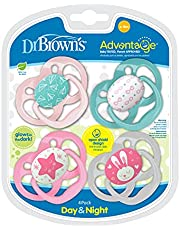 Dr. Brown's Advantage Pacifier Stage 2 4pk Pink