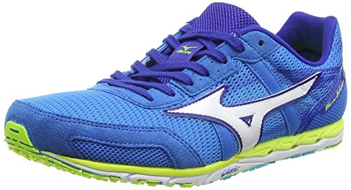 White Mizuno Diva Shoes Adults' Yellow 10 Safety Wave Blue Blue Ekiden Running Unisex wnqgvrCfw